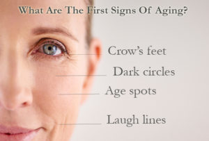 first aging signs