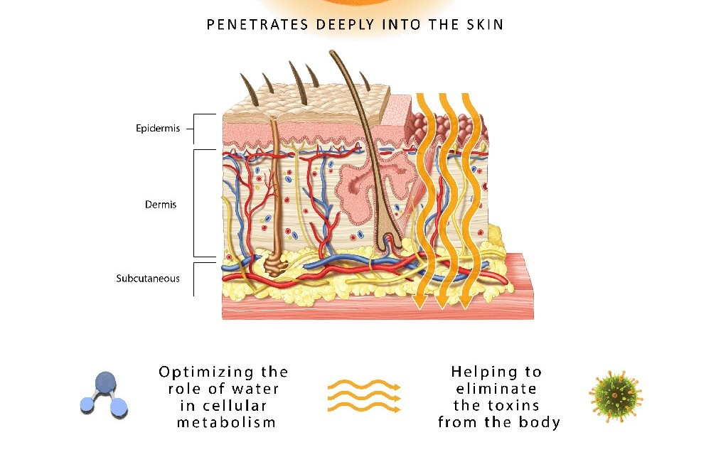 infrared heat picture on deep penetration help eliminate toxins